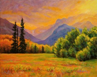 Here Comes the Sun, Landscape Oil Painting by Ann McLaughlin